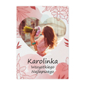 Plakat personalizowany dla dziewczyny ze zdjęciem na urodziny