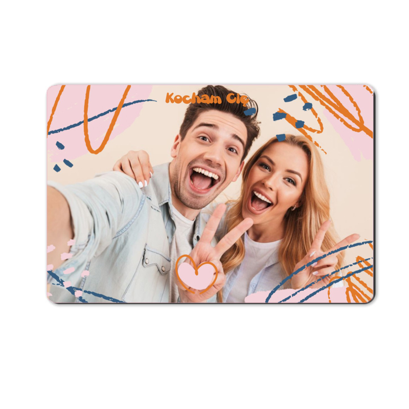 foto magnes ze zdjęciem dla dziewczyny zygzaki 15 x 10 cm