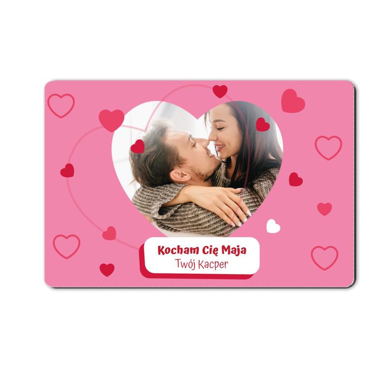 foto magnes dla dziewczyny różowy 15 x 10 cm
