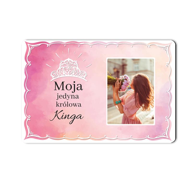 foto Magnes na lodówkę personalizowany moja królowa 15 x 10 cm