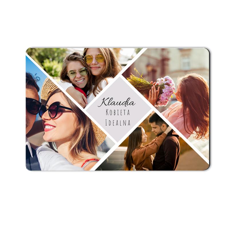 foto Magnes na lodówkę personalizowany mozaika zdjęć 15 x 10 cm