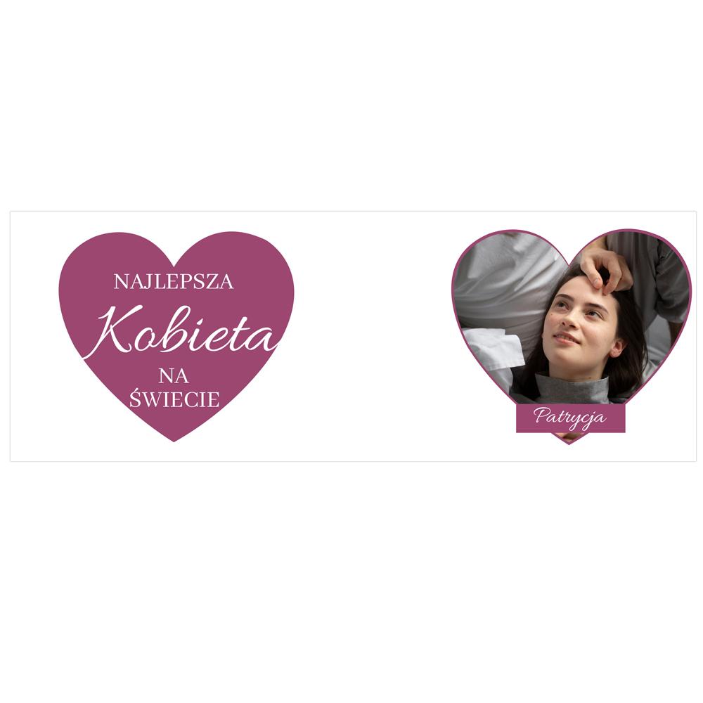 Kubek personalizowany ze zdjęciem i napisem na Dzień Kobiet dla najlepszej kobiety na świecie