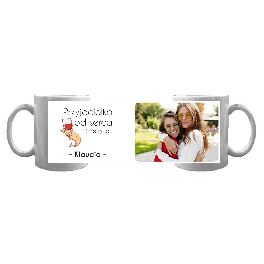 Kubek personalizowany ze zdjęciem na Dzień Kobiet dla najlepszej przyjaciółki