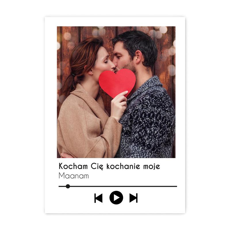foto Plakat ze zdjęciem personalizowany ulubiona piosenka na prezent Dzień Kobiet