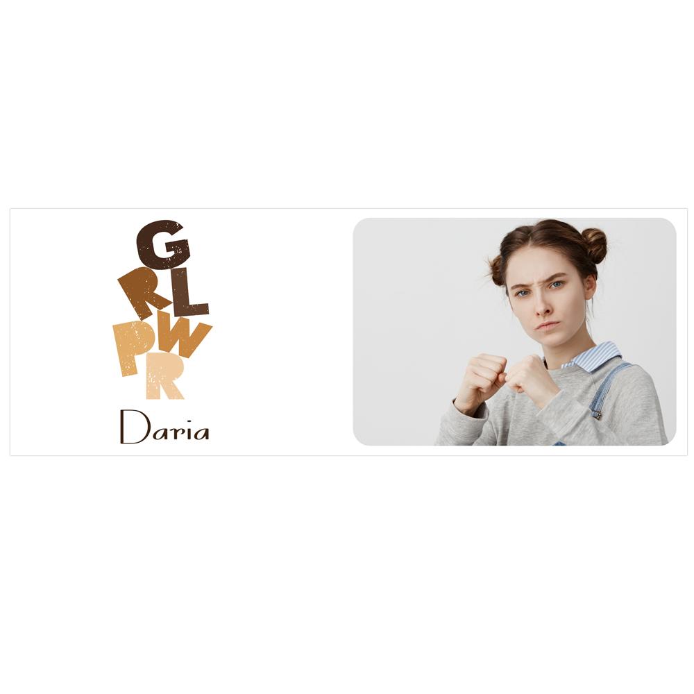 Kubek personalizowany ze zdjęciem GRLPWR Girl Power