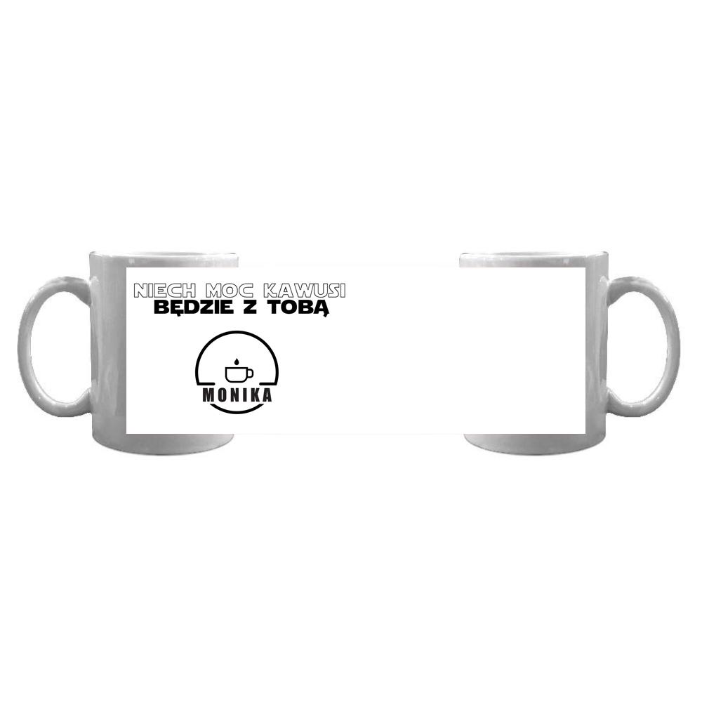 Kubek personalizowany ze zdjęciem na kawę Star Wars moc kawusi