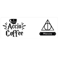 Kubek personalizowany z podpisem accio coffee Harry Potter