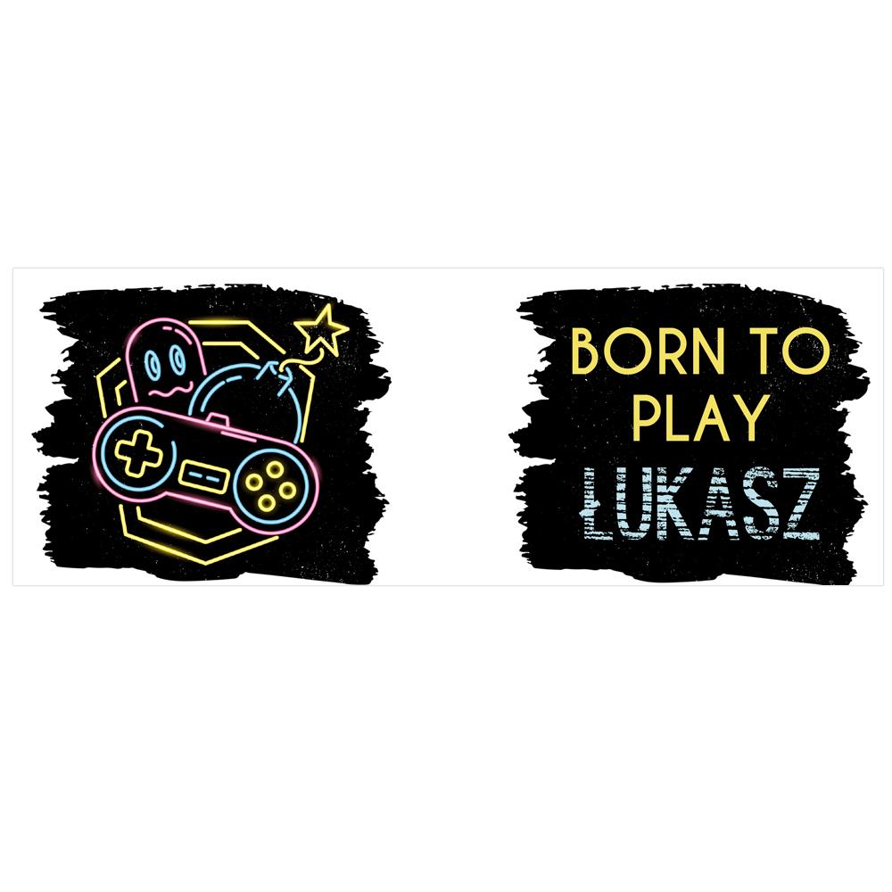 Kubek personalizowany dla gracza born to play