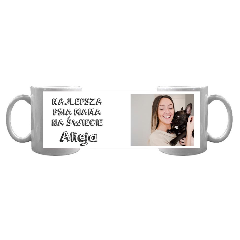 Kubek personalizowany ze zdjęciem najlepsza psia mama na świecie