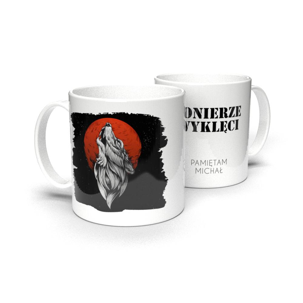 Kubek personalizowany Żołnierze Wyklęci wilk