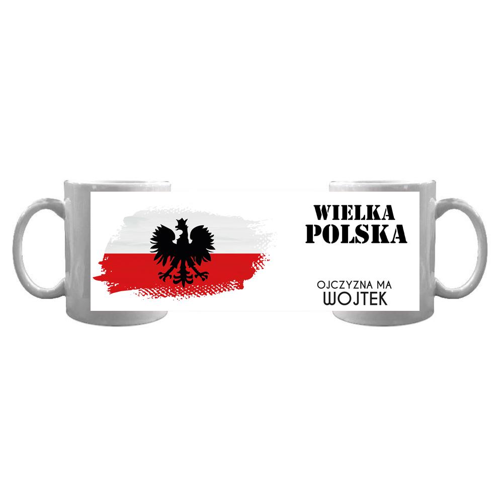 Kubek personalizowany patriotyczny Wielka Polska z imieniem