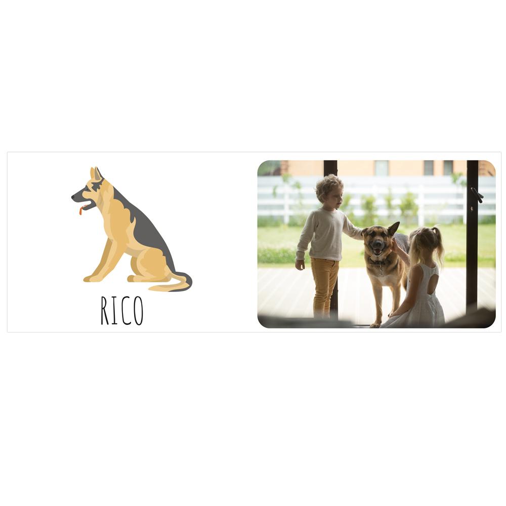 Personalizowany kubek ze zdjęciem własnego psa owczarek niemiecki