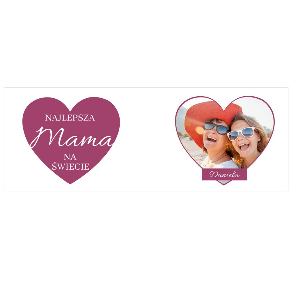 Kubek personalizowany ze zdjęciem najlepsza mama na świecie