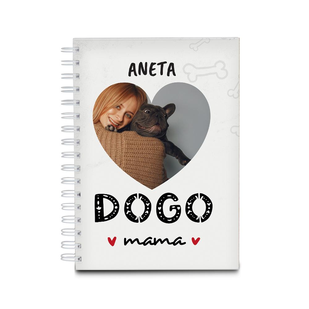 Notes personalizowany dla miłośnika psa dogo mama