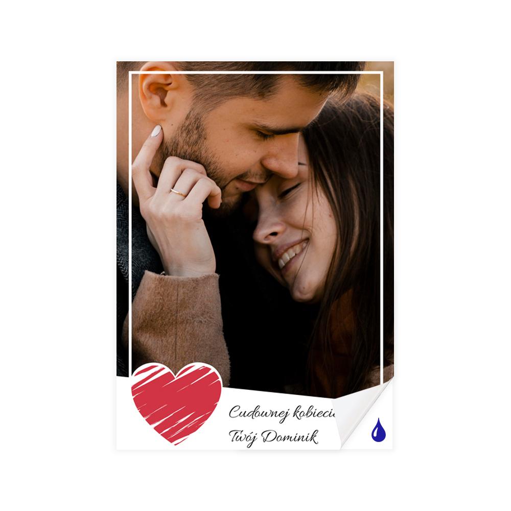 foto Plakat samoprzylepny 50x70 personalizowany minimalistyczny miłość