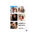 foto Plakat samoprzylepny 50x70 ze zdjęciem personalizowany kolaż dla kobiety