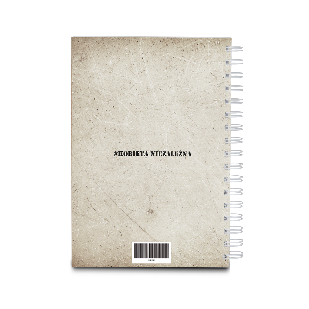 Notatnik notes personalizowany PRL kobieta sukcesu