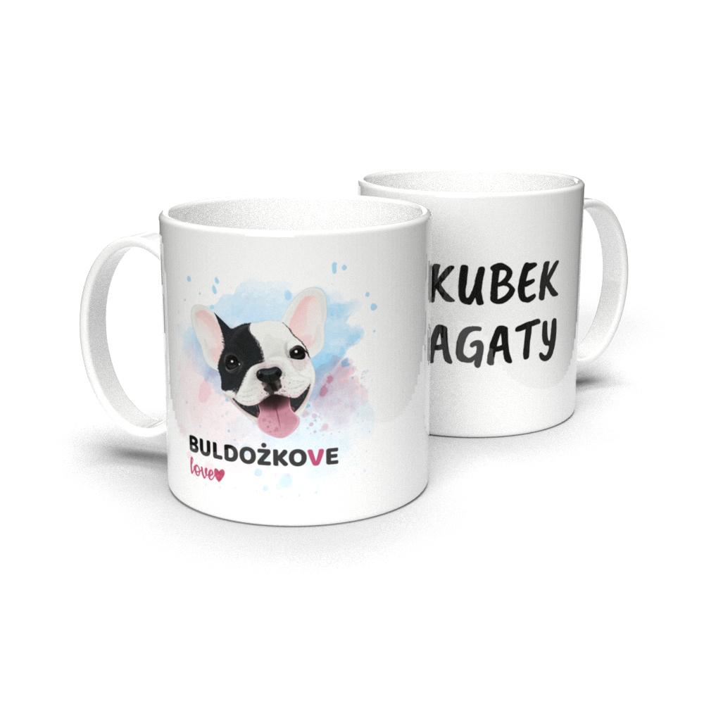 Kubek personalizowany dla właściciela psa buldożkowe love
