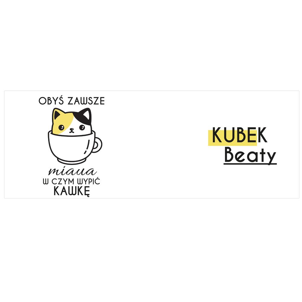 Kubek personalizowany miłośników kawy z kotem
