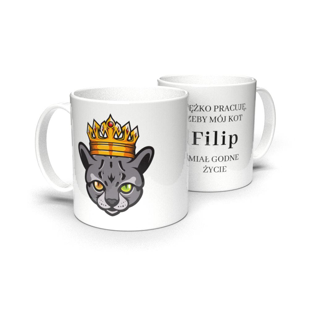 Kubek personalizowany dla właściciela kota godne życie