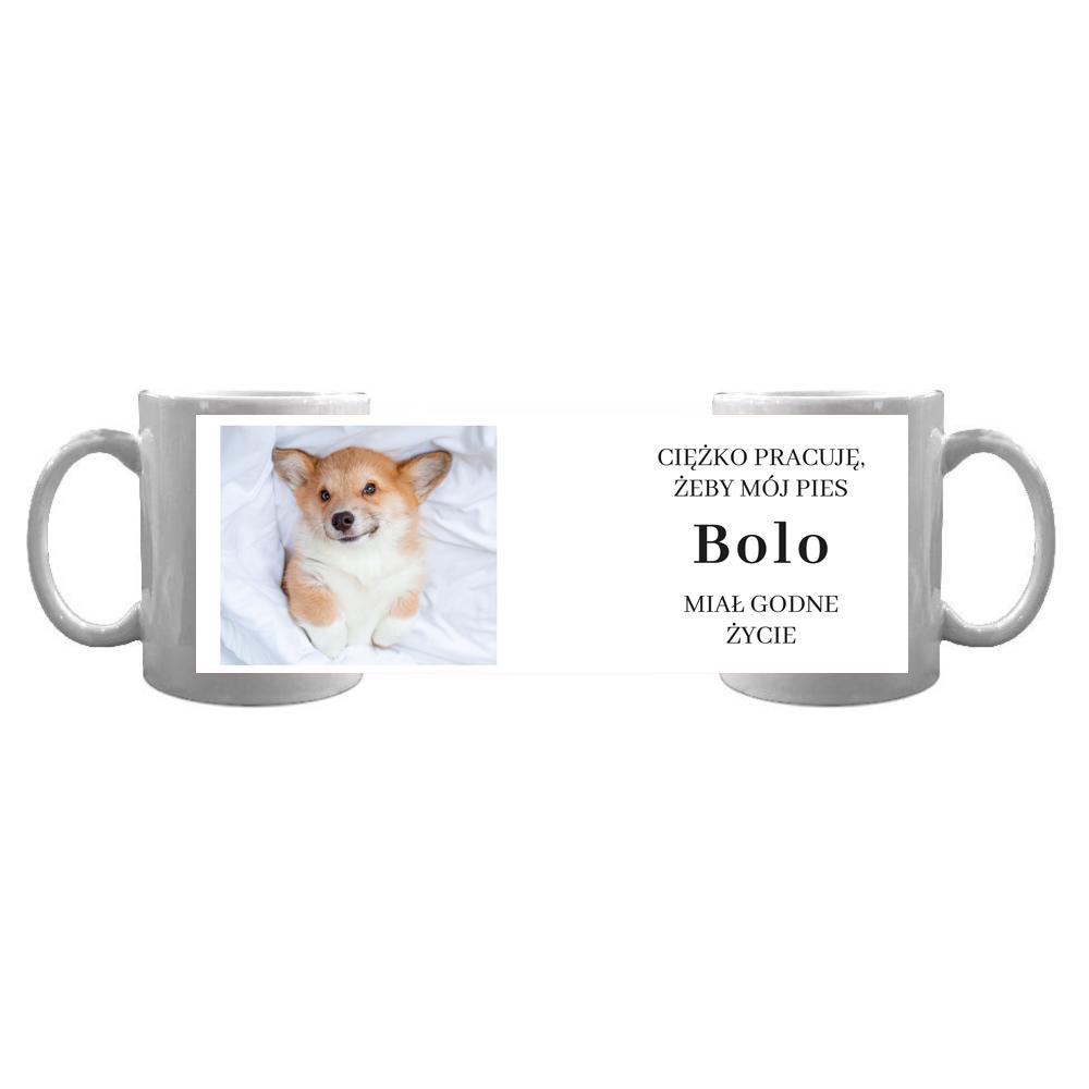 Kubek personalizowany dla właściciela psa ze zdjęciem godne życie