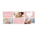 Kubek personalizowany ze zdjęciami metryczka na narodziny dziecka dla dziewczynki