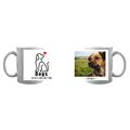 Kubek personalizowany ze zdjęciami dogs make life better dla właściciela psa