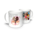 Kubek personalizowany dla przyjaciółek blondynka brunetka ze zdjęciem