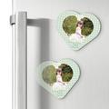 Magnesy personalizowane podziękowania dla gości serce kropeczki Komunia