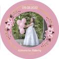 Magnesy personalizowane podziękowania dla gości kwitnąca wiśnia ze zdjęciem