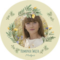 Magnesy personalizowane podziękowania dla gości komunia z własnym zdjęciem