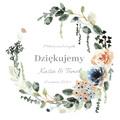 Magnesy na wesele personalizowane podziękowania dla gości kwiaty boho