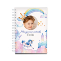 Notes personalizowany ze zdjęciem dla dziecka dziewczynki magiczne notatki