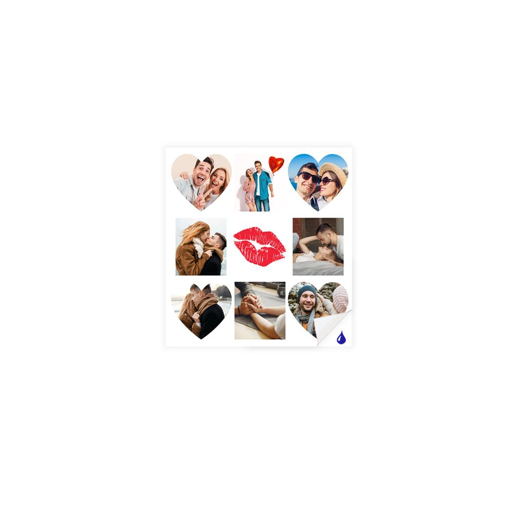 foto Plakat samoprzylepny kwadrat dla usta kolaż