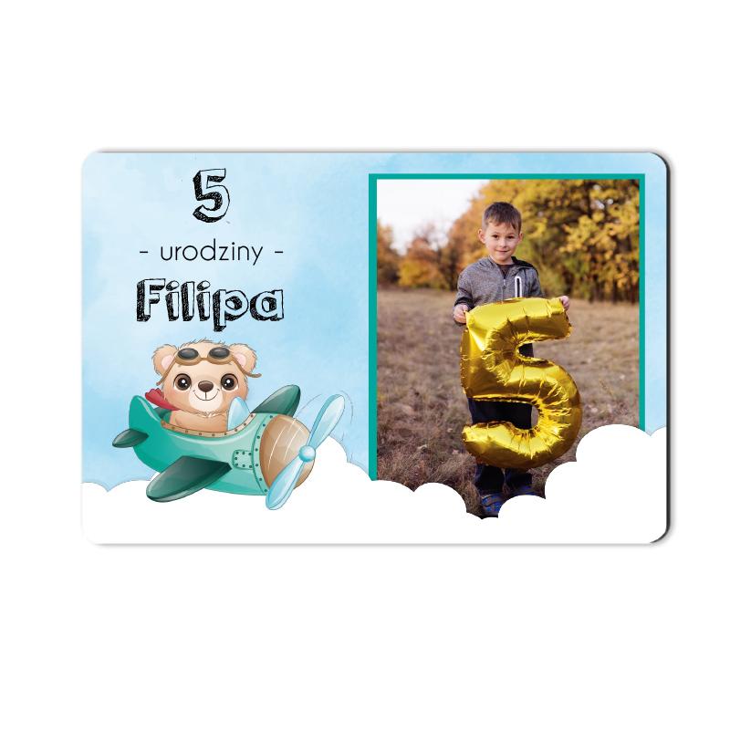 Foto magnes podziękowanie personalizowany urodzinowy do pełnej personalizacji
