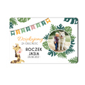 Magnes ze zdjęcie roczek urodziny dla chłopca rustykalny zwierzęta zoo
