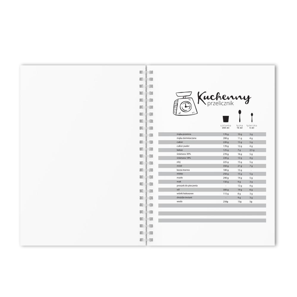 Przepiśnik zeszyt notes na przepisy kulinarne w obiciu imitującym drewno dla mamy
