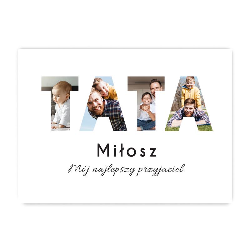 Plakat personalizowany ze zdjęciami na prezent dla ojca dla taty