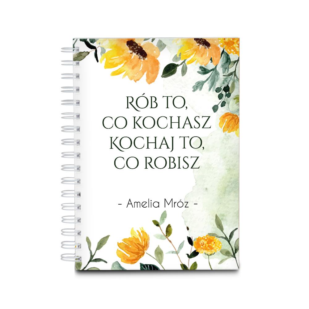 Notatnik dla mamy personalizowany motywacyjny rób to co kochasz na prezent na Dzień Mamy
