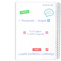 Notes personalizowany z imieniem kwiatowy rystykalny na prezent na Dzień Mamy