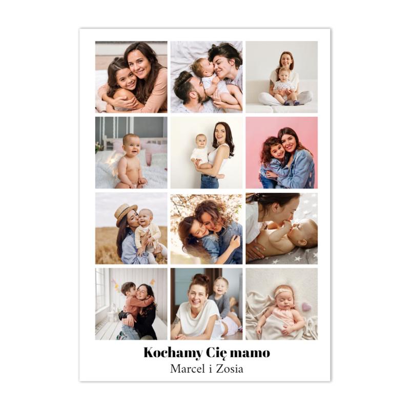 Plakat z własnych zdjęć do ramki ikea 40x50 plakat na Dzień Mamy