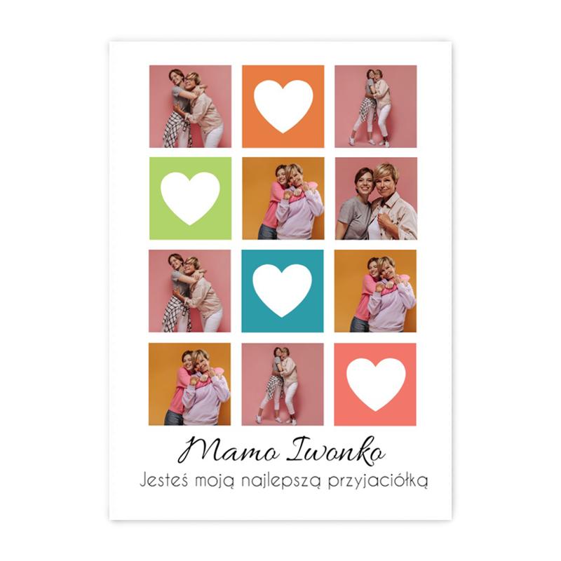 Foto plakat ze zdjęcia do ramki ikea 50x70 kolorowy kolaż na Dzień Mamy