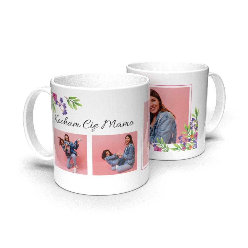 Kubek personalizowany Dzień Mamy z własnym zdjęciem kocham Cię dla mamy