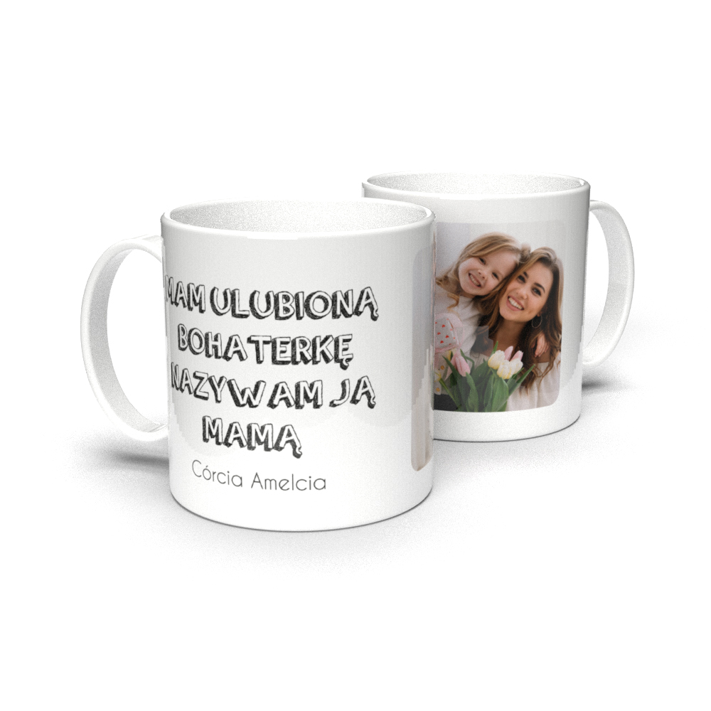 Kubek personalizowany ze zdjęciem bohaterka mama na Dzień Mamy