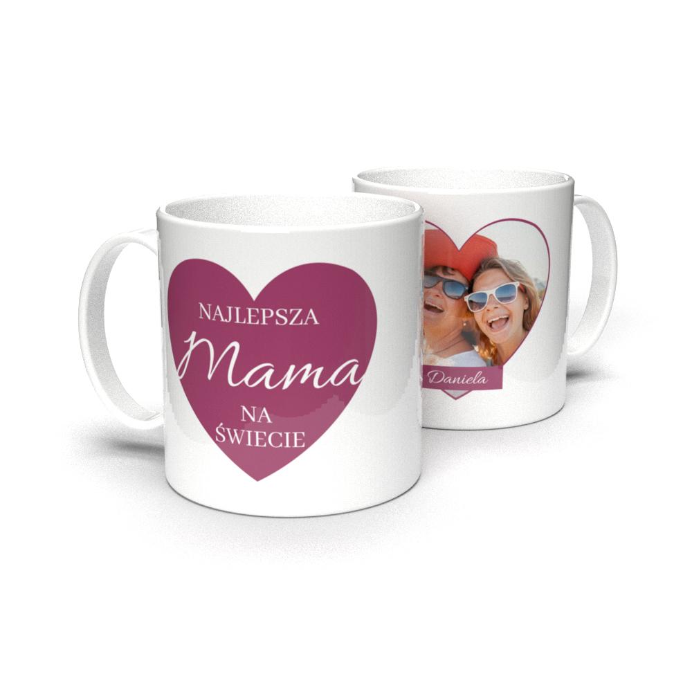 Kubek personalizowany ze zdjęciem najlepsza mama na świecie Dzień Mamy