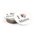 Okrągła podkładka na prezent na Dzień Mamy I love mama
