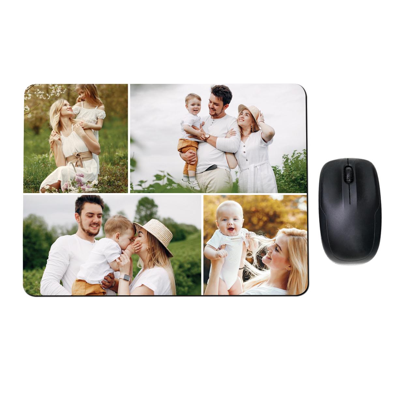 Personalizowana podkładka pod mysz ze zdjęciami kolaż