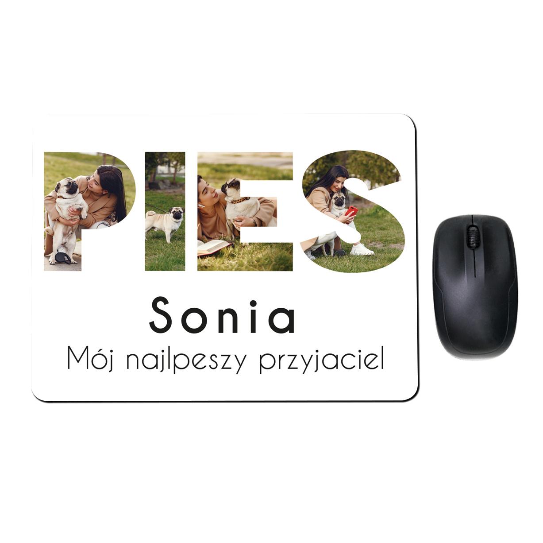 Fotopodkłada pod mysz personalizowana ze zdjęciami dla właściciela psa