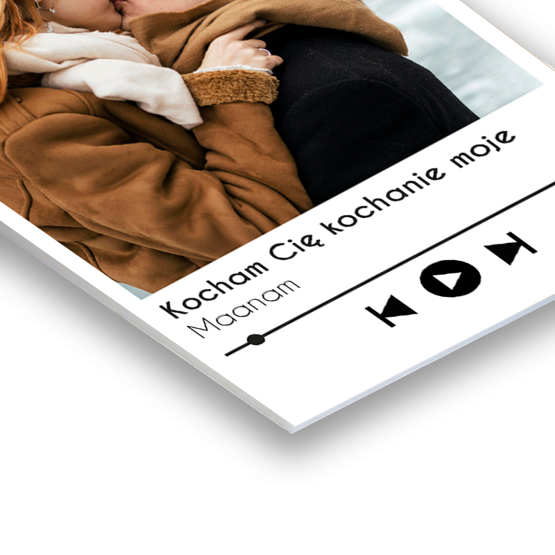 Zdjęcie na spienionej piance pcv z nadrukiem spotify ulubiona piosenka
