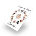 Personalizowana spieniona pcv ze zdjęciami rok życia dziecka